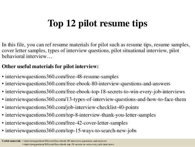 pilot resume template resume cv cover letter. sample pilot resume ...