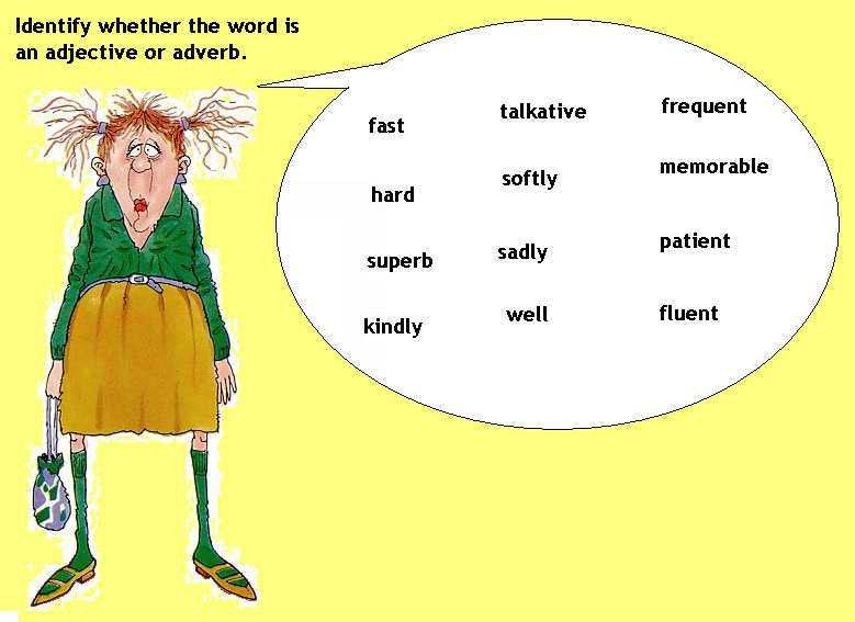 Parallel Structure: Adjectives and Adverbs (Series 2) - Level B ...
