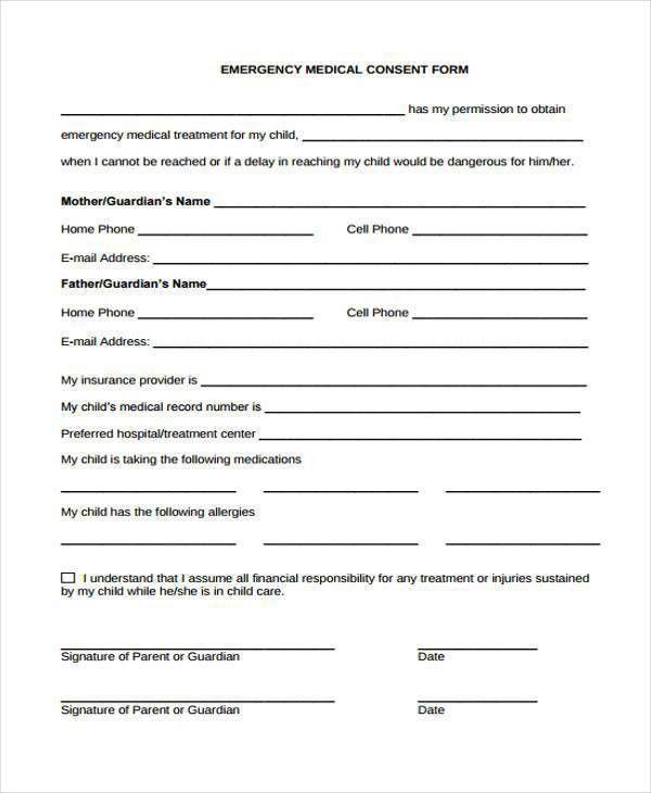 Printable Medical Forms