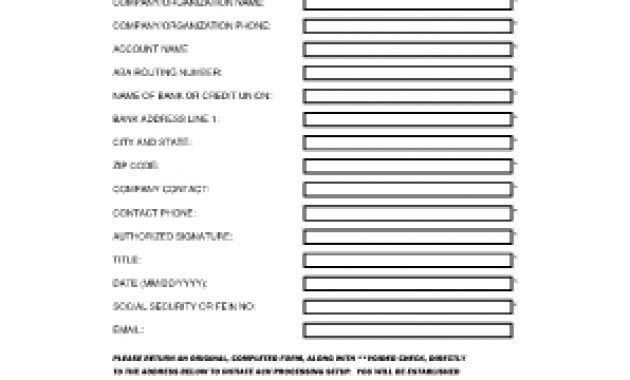 Ach Form Template – Fill Online, Printable, Fillable, Blank for ...