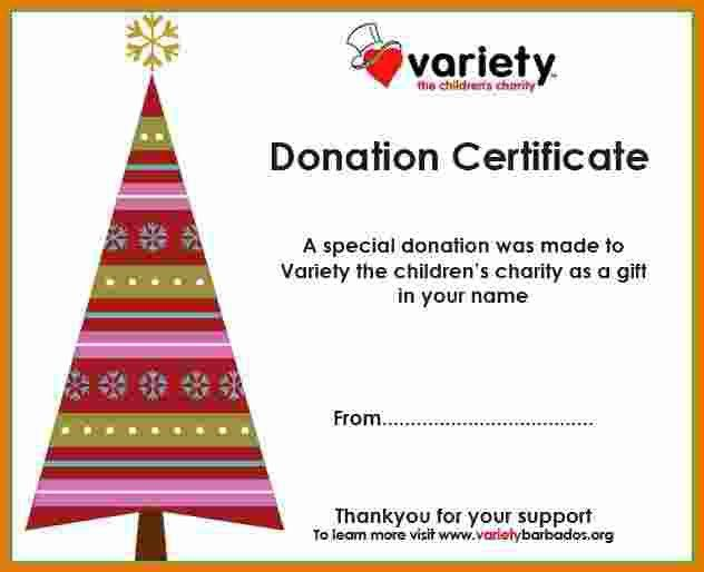 Donation Certificate Template.4 Xmas Gift Donate Certificate 1.jpg ...