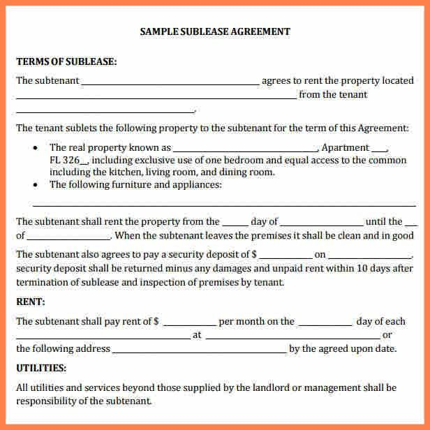 5+ commercial sublease agreement template word | Purchase ...