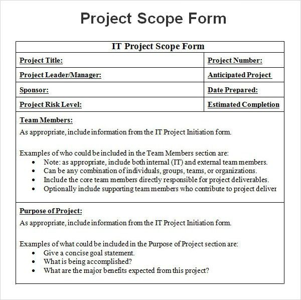 Project Scope Template | peerpex
