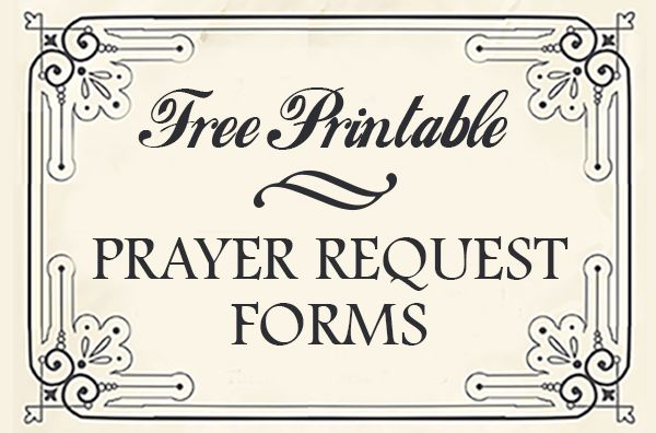 Free Printable Prayer Request Forms - Time-Warp Wife