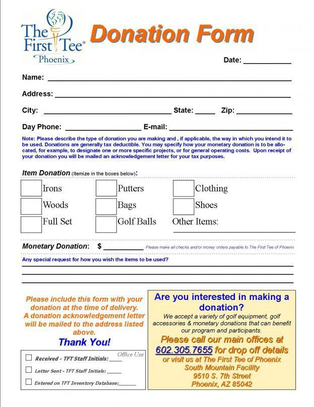 Samples Of Donation Form Templates Word : Selimtd
