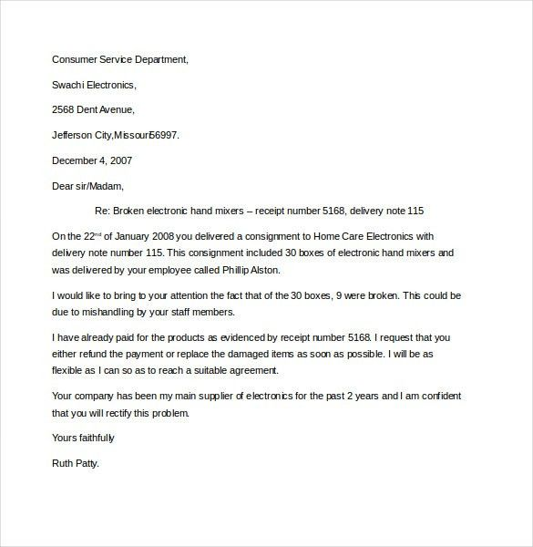 10+ Business Complaint Letter Templates – Free Sample, Example ...