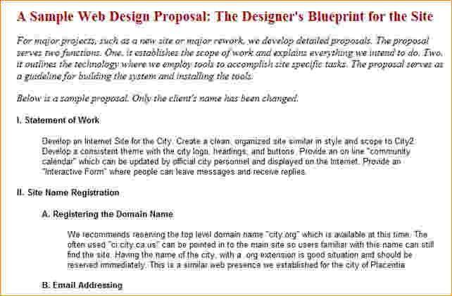 7+ Website Design Proposal Template | Timeline Template
