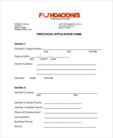 Application Form Example. Sample Pre-Employment Application Form 8 ...
