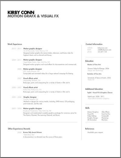 motion graphics cv. motion graphics designer resume graphic design ...