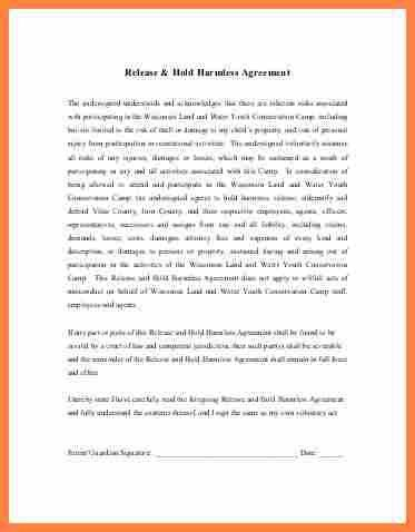 Hold Harmless Agreement Template. Printable Sample Assignment Of ...