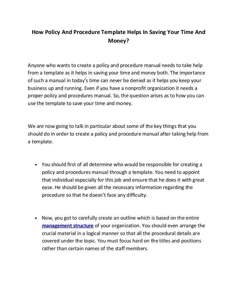 Office Manual Template - Contegri.com