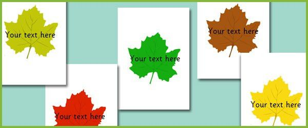 Leaves - Editable Text | Free Early Years & Primary Teaching ...