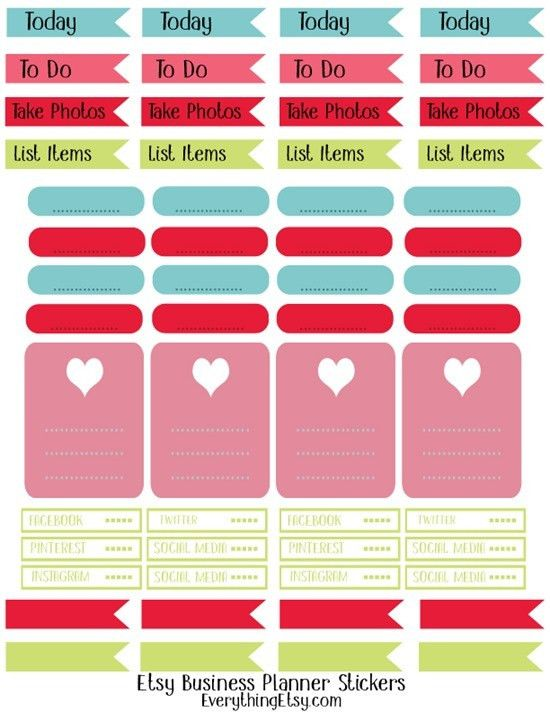 Etsy Business Planner Stickers–Free Printable | Free Printables ...