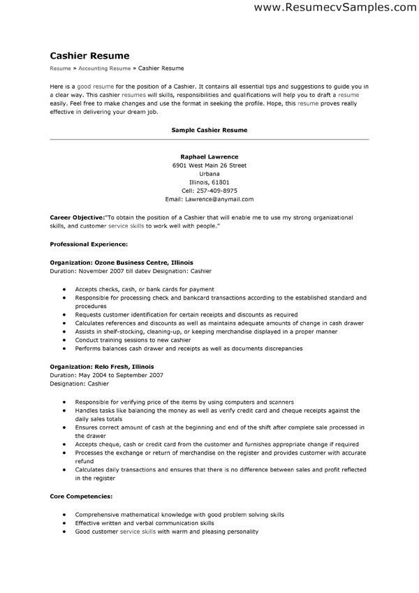 resume cashier objective resume cv cover letter. extraordinary ...