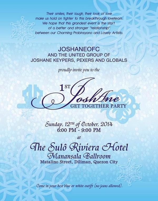 "JOSHANE OFC on Twitter: ""1st JOSHANE Get Together Official ..."