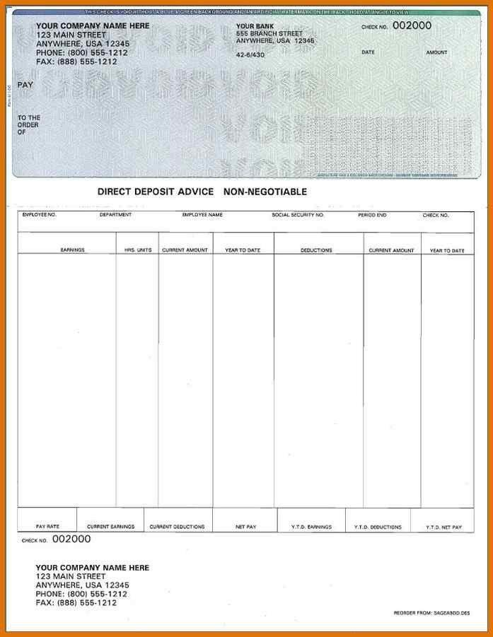 free check stub template printables   modern bio resumes