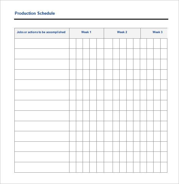 Production Scheduling Template - 4 Free Word, Excel, PDF Documents ...