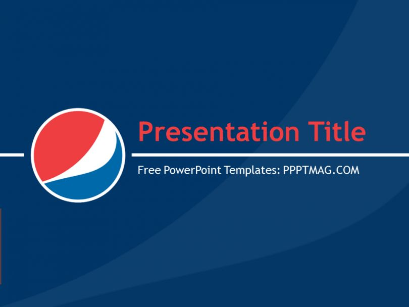 Free Pepsi Cola PowerPoint Template - PPTMAG
