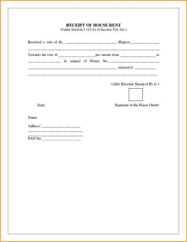 7+ house rent receipt | bibliography format