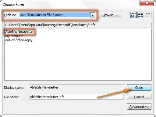 Creating Templates In Outlook. how to create an outlook template ...