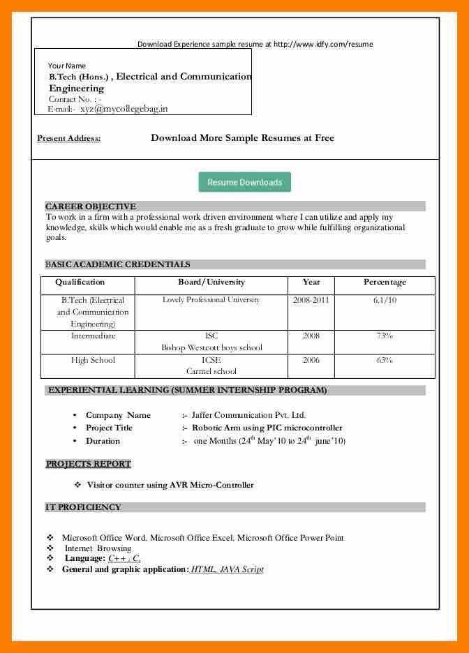 resume demo word file resume format word document resume template ...