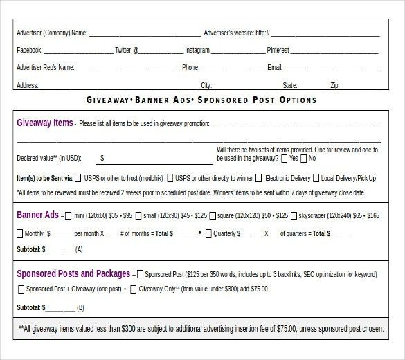 15+ Insertion Order Templates – Free Sample, Example, Format ...