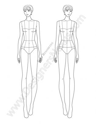 Female Croquis: 60+ Free Fashion FIgure Templates