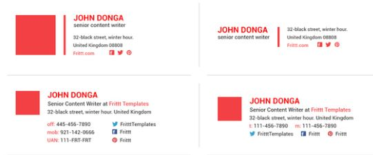 20 Free Email Signature Templates – Jarvis