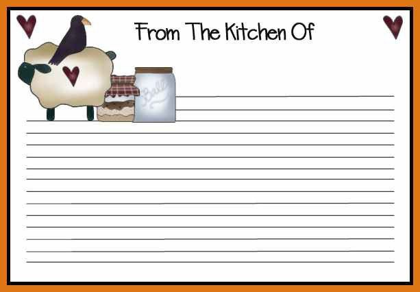 recipe card template | letter format business