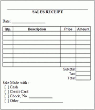 6 Free Sales Receipt Templates - Excel PDF Formats