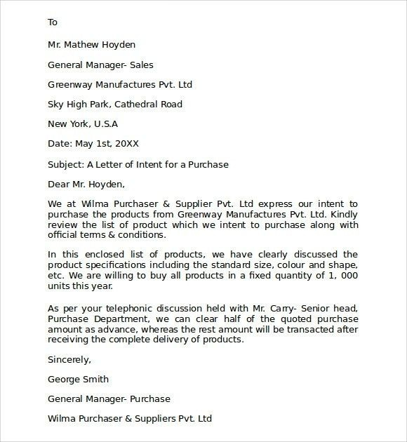 Letter Of Intent To PurchaseBest Business Template | Best Business ...