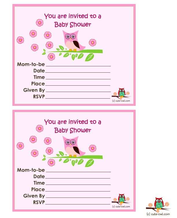Free Printable Baby Shower Invitations For A Girl | THERUNTIME.COM