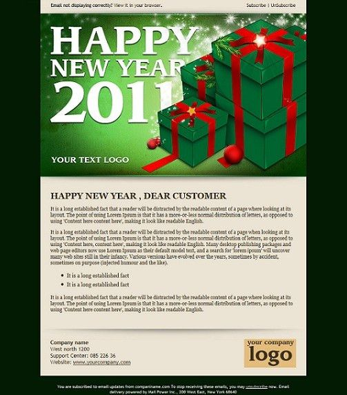 12 Free & Premium Holiday/Christmas Email & Newsletter Templates ...