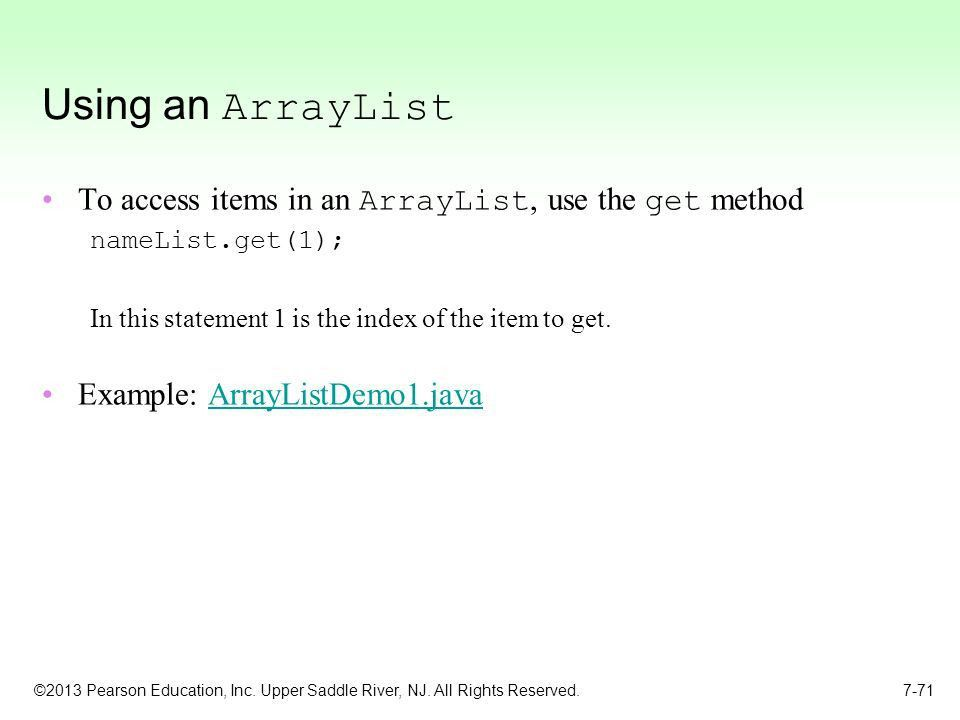 Chapter 7: Arrays and the ArrayList Class - ppt download