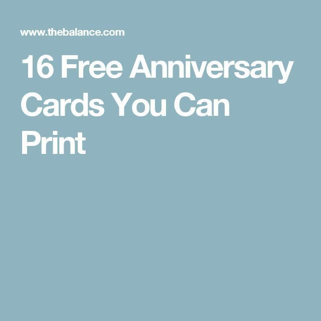 Awesome Print Anniversary Card Images - Best Resume Examples for ...