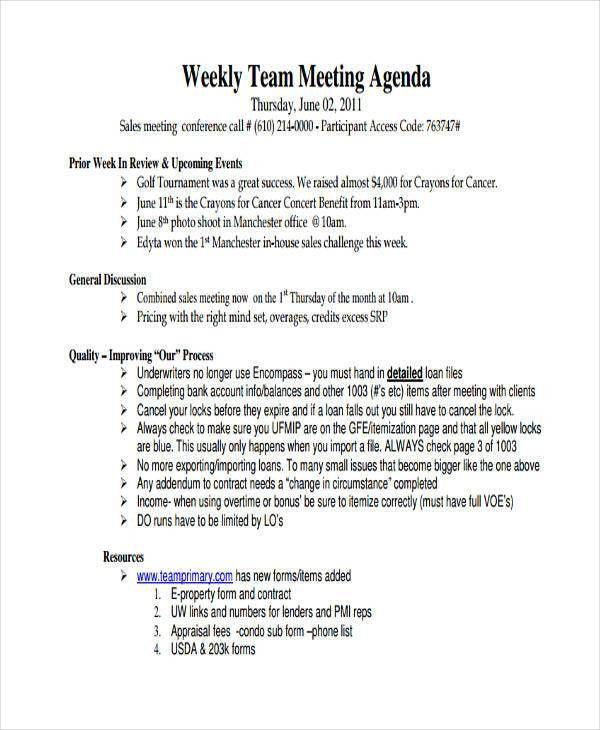 46 Meeting Agenda Templates | Free & Premium Templates