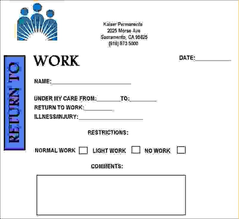 9 Free Printable Doctors Note For WorkAgenda Template Sample ...