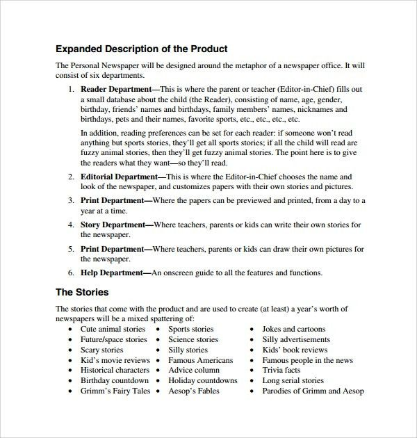 Product Description Template. Product Sales Sheet Template Sales ...