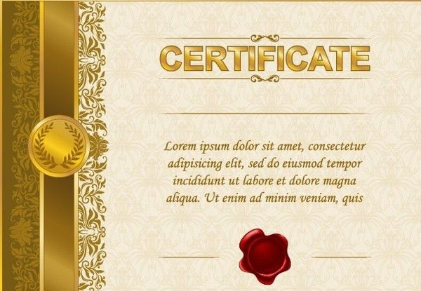 Certificate gold border template free vector download (19,096 Free ...