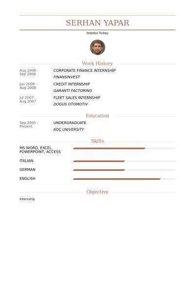 Finance Intern Resume samples - VisualCV resume samples database