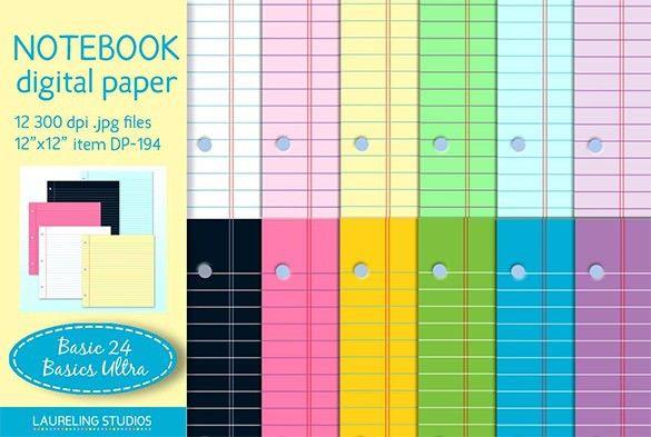 13+ Notebook Paper Templates – Free EPS, PDF, Illustrator Files ...