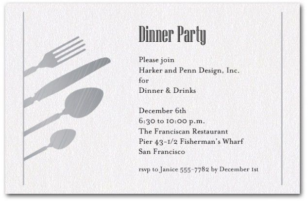 Dinner Party Invitation Template Trends In 2017 | THEWHIPPER.COM