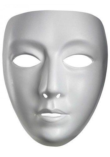 Blank Female Mask   Female mask and Halloween 2017