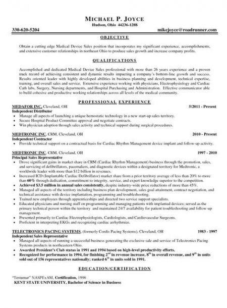Outside Sales Resume Examples. Outside Sales Representative Resume ...