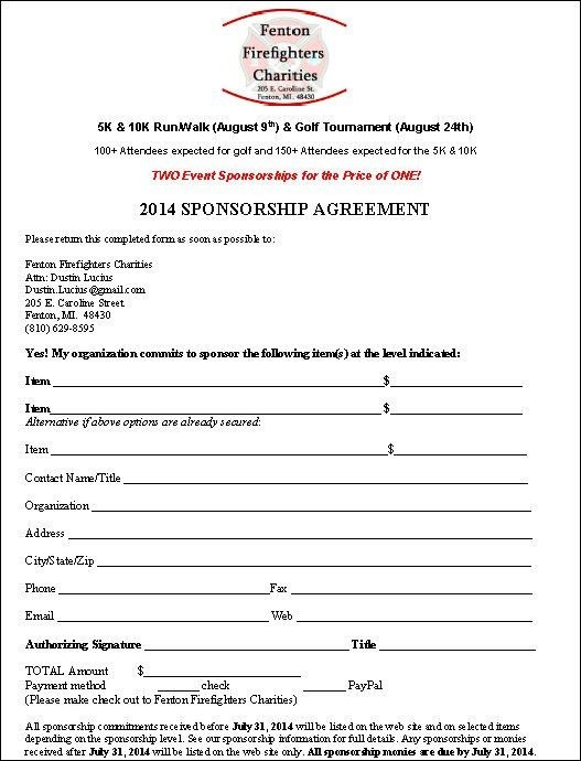 Charity Sponsorship Agreement Template | Formation Of Israel
