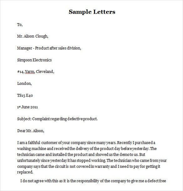 Funny Complaint Letter – 10+ Free Word, PDF Documents Download ...