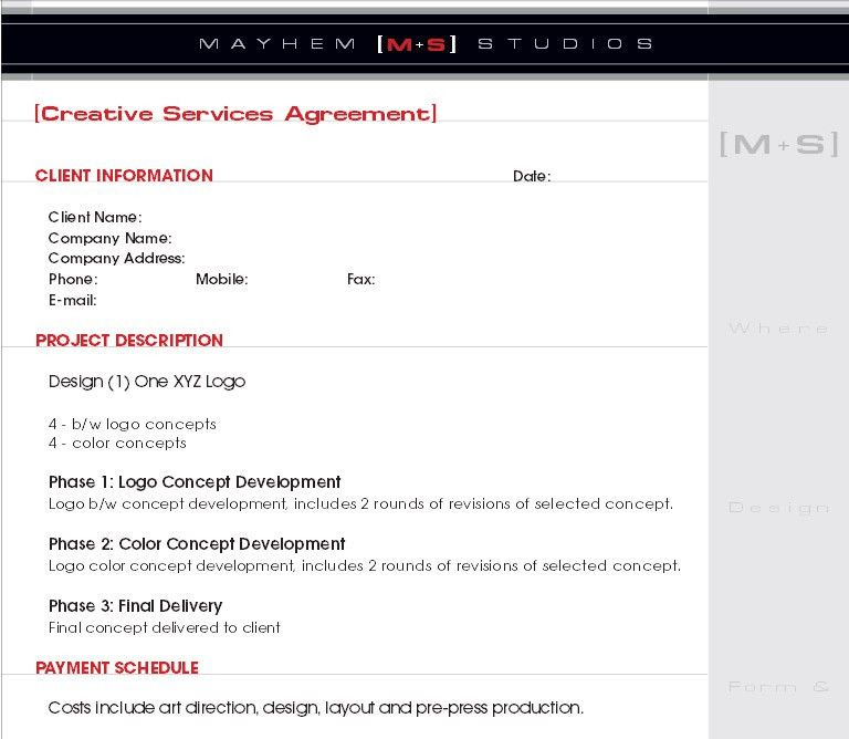 8 Best Images of Website Design Contract Template - Website Design ...