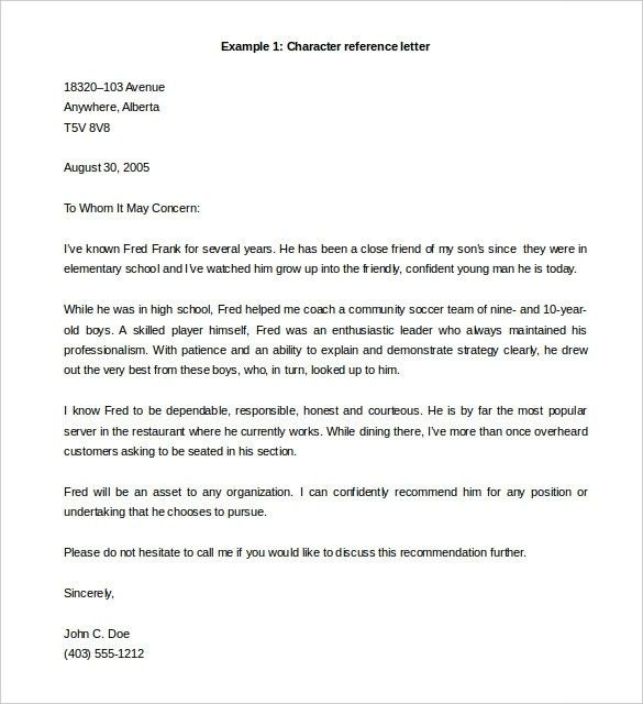 28+ Reference Letter Template – Free Sample, Example Format ...