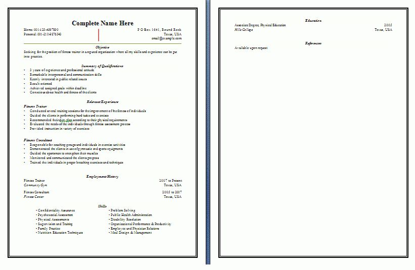 trainer sample resume resume cv cover letter. trainer resume ...