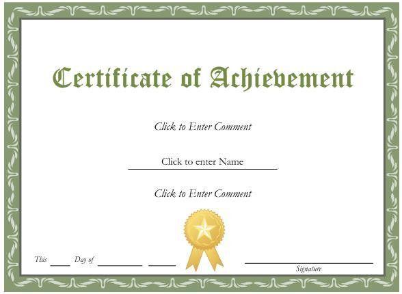 Examples Of Award Certificates [Nfgaccountability.com ]